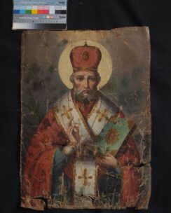 Реставрация иконы Николая Чудотворца 1