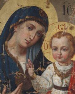 Реставрация иконы Казанская Пресвятая Богородица