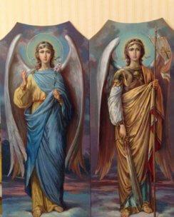 Писаные иконы архангелов Михаила и Гавриила