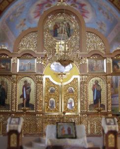 иконостас в православном монастыре
