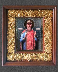 Икона Владимир равноапостольный (в киоте с резной рамой)