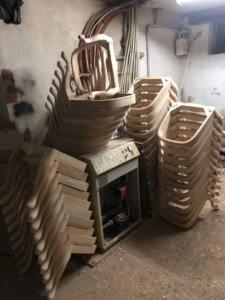 гнутые каркасы стульев