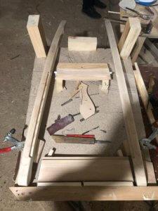 изготовление спинки стула